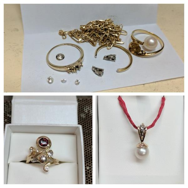 Recreate jewellery from old pieces. Lanique Design